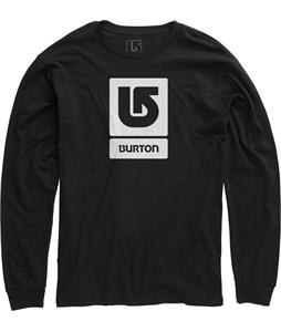Burton Logo Vertical Fill L/S T-Shirt True Black