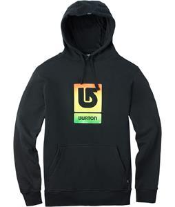 Burton Logo Vertical Fill Pullover Hoodie True Black Rasta