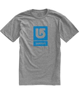 Burton Logo Vertical Fill T-Shirt Gray Heather