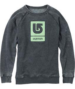Burton Logo Vertical Fill Crew Sweatshirt True Black