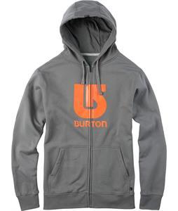 Burton Logo Vertical Full-Zip Hoodie Dark Ash