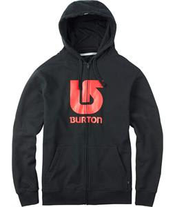 Burton Logo Vertical Full-Zip Hoodie True Black