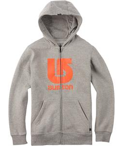 Burton Logo Vertical Full-Zip Hoodie Gray Heather