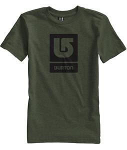 Burton Logo Vertical T-Shirt Heather Olive