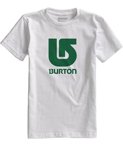 Burton Logo Vertical T-Shirt Stout White