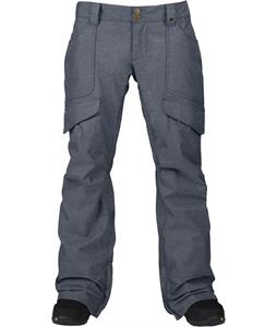 Burton Lucky Snowboard Pants Blue Denim