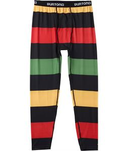 Burton Midweight Baselayer Pants Pop Stripe Rasta
