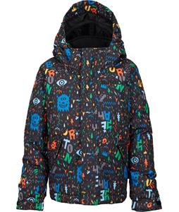 Burton Minishred Amped Snowboard Jacket Yeah! Print 4T