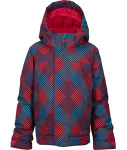 Burton Minishred Elodie Snowboard Jacket Marilyn Mini Checkers Print 4T