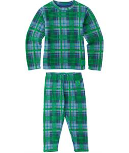 Burton Minishred Fleece Baselayer Set Top Mascot Mason Plaid 3T
