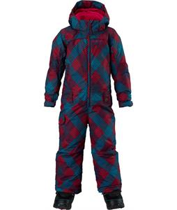 Burton Minishred Illusion One Piece Suit Marilyn Mini Checkers Print 4T