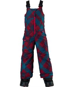 Burton Minishred Maven Bib Snowboard Pants Marilyn Mini Checkers Print 4T