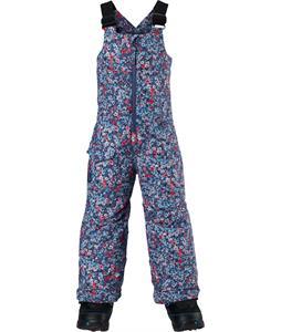 Burton Minishred Maven Bib Snowboard Pants Sorcerer Confetti Floral 4T