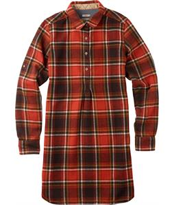 Burton Pearl Pullover Shirt Flame District Plaid