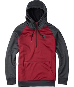Burton Quarter Zip Bonded Hoodie Zinfandel Heather