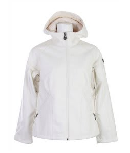 Burton Sanctuary Softshell Jacket Bright White Feather Jacquard