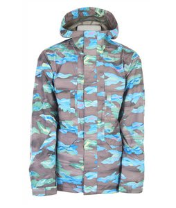Burton 2L Goretex Shelter Snowboard Jacket Mocha Hydro Camo Print