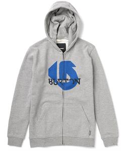 Burton Slanted Full-Zip Hoodie Heather Gray