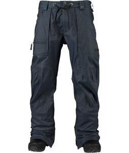 Burton Southside Slim Snowboard Pants Indigo Denim