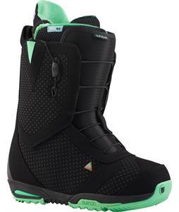 Burton Supreme Snowboard Boots Black/Mint