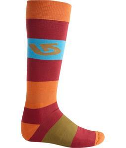 Burton Tailgate Socks Crimson