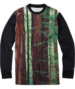 Burton Tech Baselayer Top Blotto Big Trees