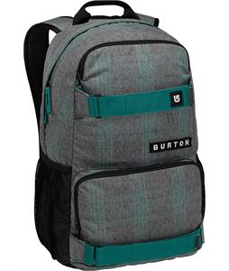 Burton Treble Yell Backpack Misty Tidal Plaid 21L