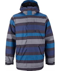 Burton TWC Greenlight Snowboard Jacket True Black Micro Stripe