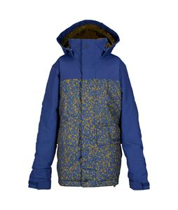 Burton TWC Headliner Snowboard Jacket Deep Sea/Hickory Noteook Print