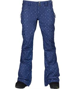 Burton TWC Native Snowboard Pants Denim Flash Print