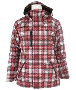 Burton TWC No Way Snowboard Jacket Redwood Grunge Plaid