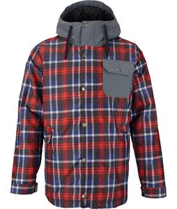 Burton TWC Primetime Snowboard Jacket True Black Saddle Plaid/Bog