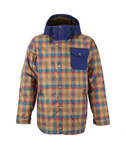 Burton TWC Primetime Snowboard Jacket Cork Saddle Plaid