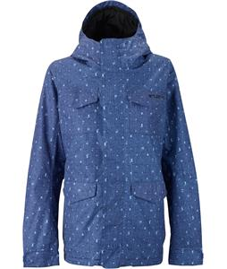 Burton TWC Search And Enjoy Snowboard Jacket Denim Flash Print