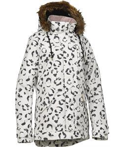 Burton TWC Wanderlust Snowboard Jacket Stout White Leopard Print