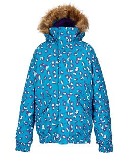 Burton Twist Bomber Snowboard Jacket Antidote Cray Cray Leopard Print