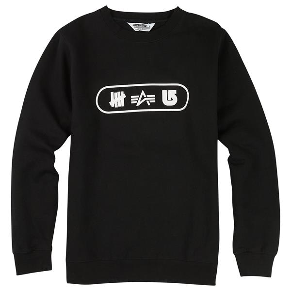 Burton Undefeated X Alpha Industries Tri Logo Crew Sweatshirts