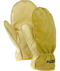 Burton Work Horse Leather Mittens Raw Hide