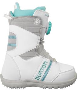 Burton Zipline Snowboard Boots White/Gray/Teal
