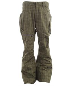 Cappel Calling Snowboard Pants Tartan Plaid Battle Green