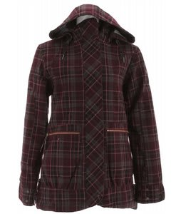 Cappel Cherrybomb Insulated Snowboard Jacket Richwool Plaid Raisin