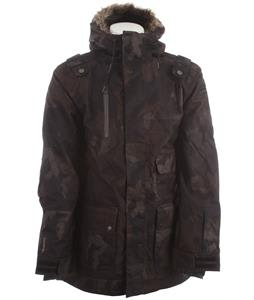 Cappel Magnificent Snowboard Jacket Black Camo Wool