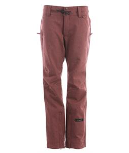 Cappel Take Over Snowboard Pants Mahogany Stretch Tweed