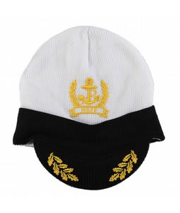 Neff Captain Visor Beanie White/Black