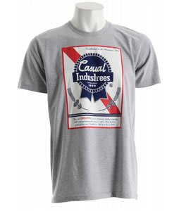 Casual Industrees Broke Ribbon T-Shirt Heather Grey