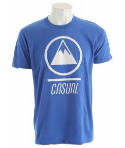 Casual Industrees Mountain Logo T-Shirt Royal Blue