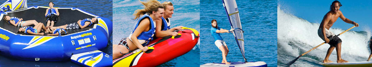 Aquaglide Inflatables, Towables & Windsurfing
