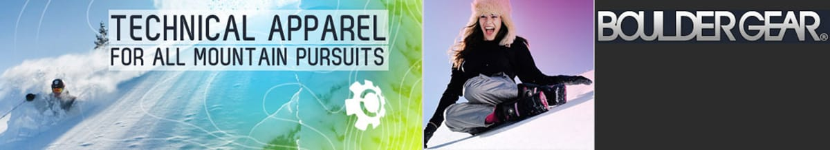 Boulder Gear Ski & Snowboard Clothing, Jackets, Pants & Shoes