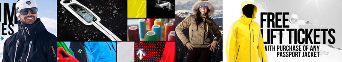 Descente Ski Clothing, Jackets, Pants