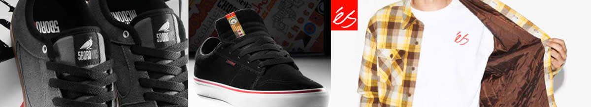 ES Skate Shoes, Skateboard Clothing, Hoodies, T-Shirts, Backpacks